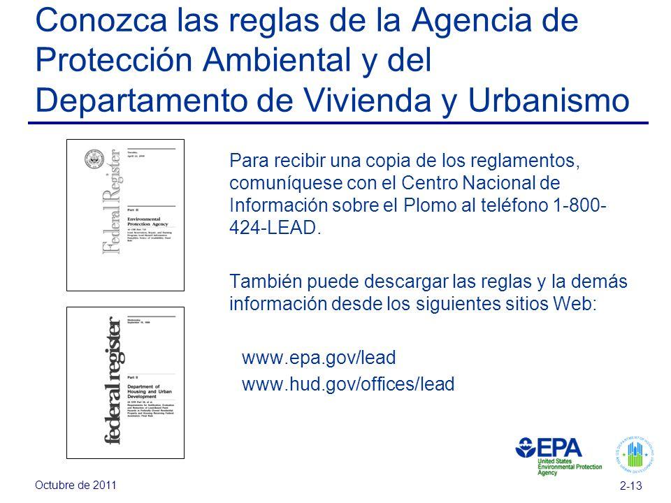 Conozca las reglas de la Agencia de Protección Ambiental y del Departamento de Vivienda y Urbanismo