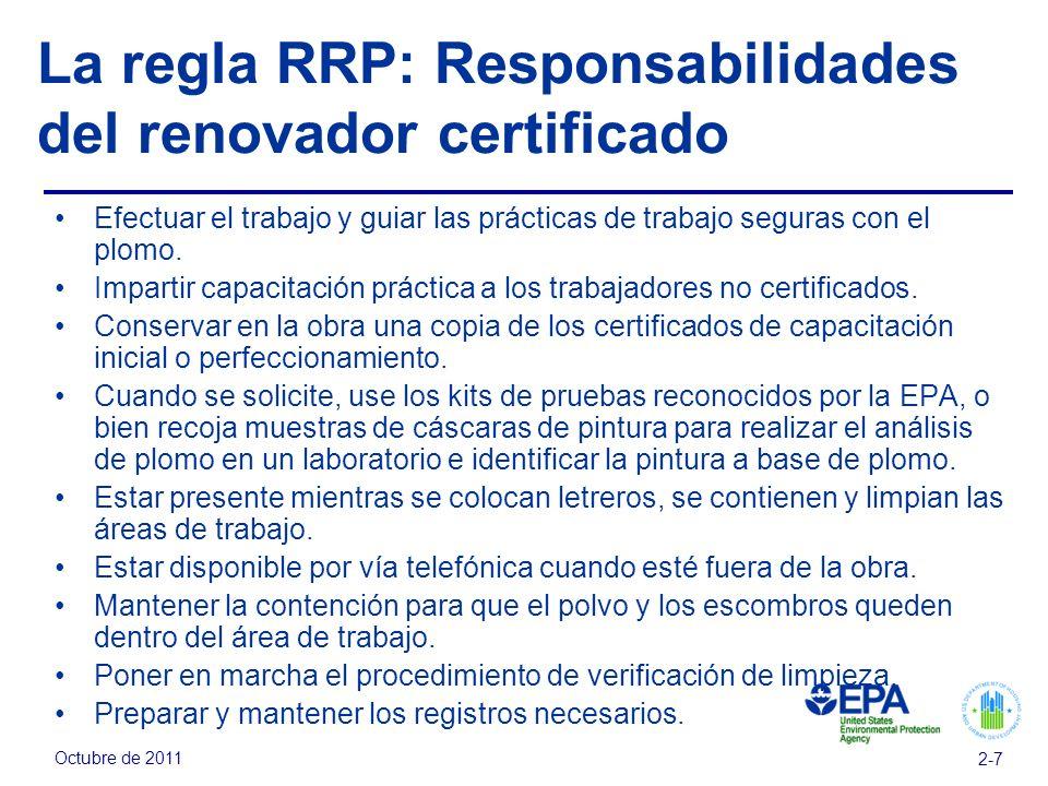 La regla RRP: Responsabilidades del renovador certificado