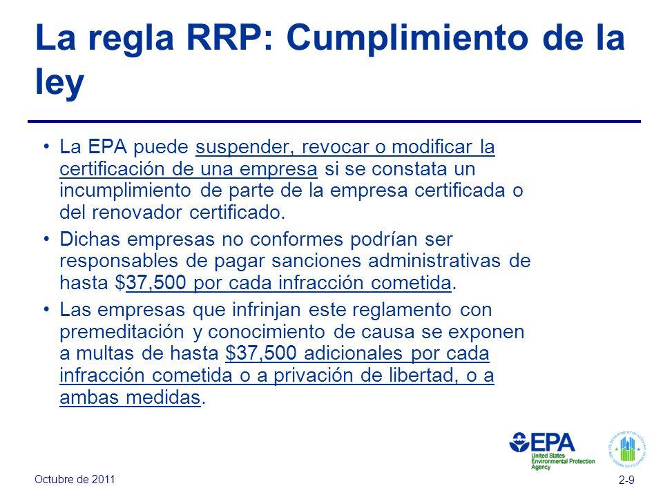La regla RRP: Cumplimiento de la ley
