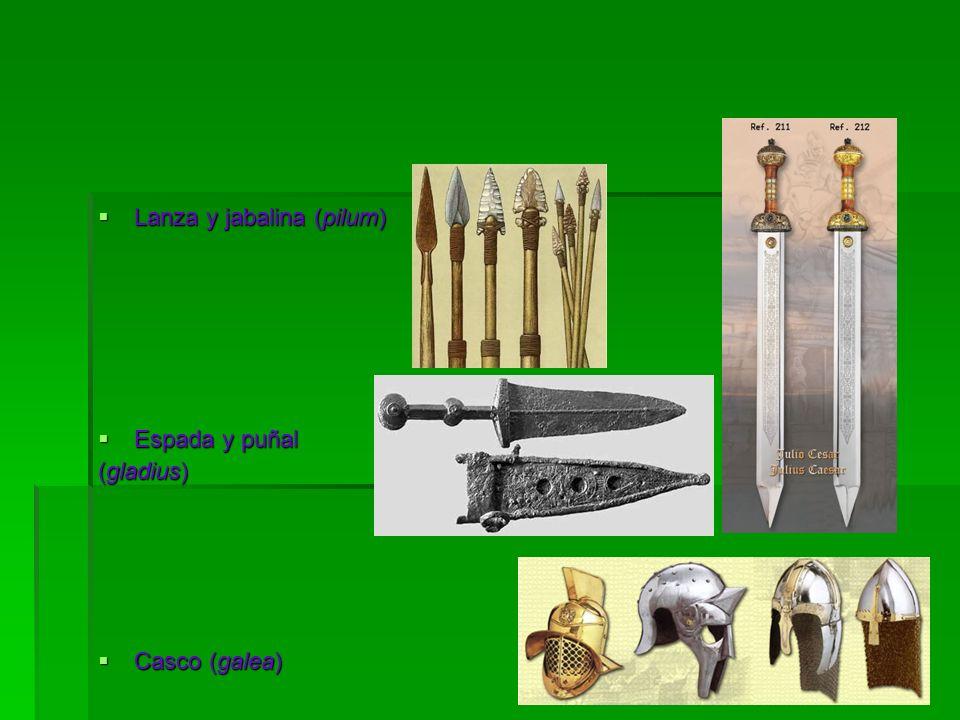 Lanza y jabalina (pilum)