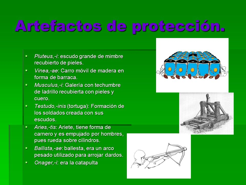 Artefactos de protección.
