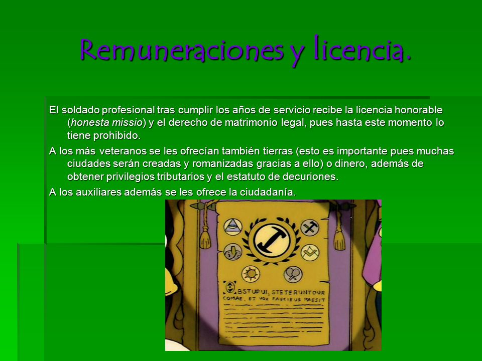 Remuneraciones y licencia.