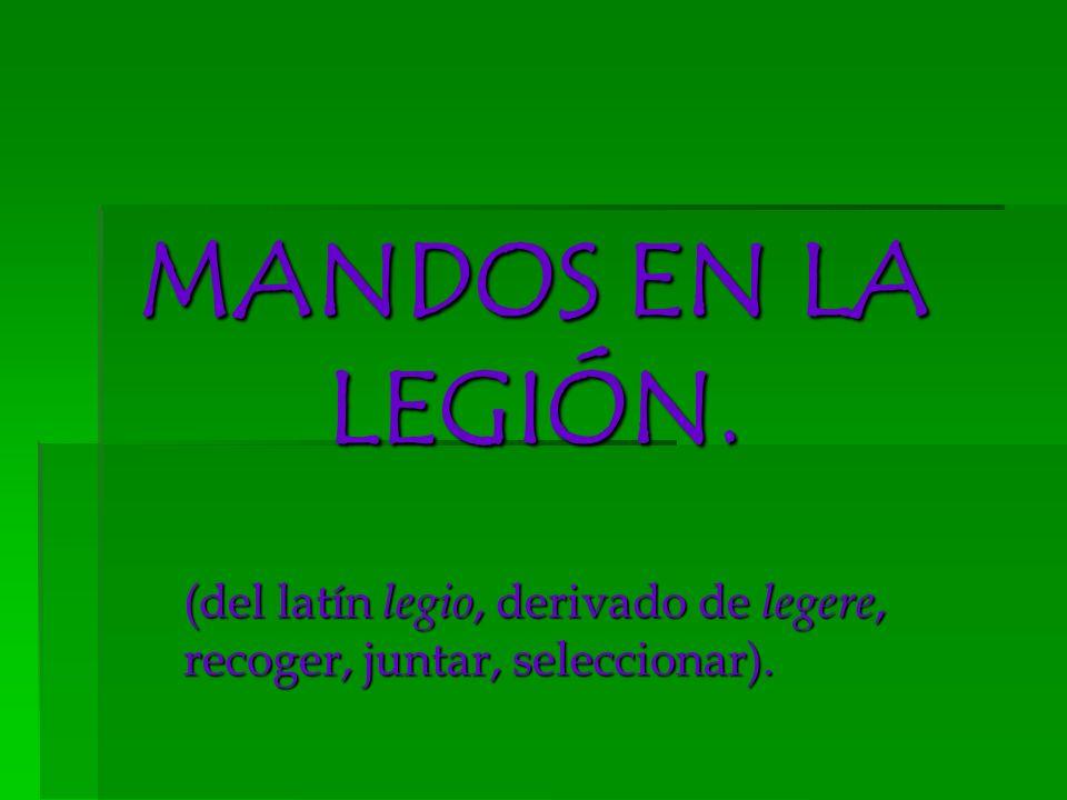 (del latín legio, derivado de legere, recoger, juntar, seleccionar).