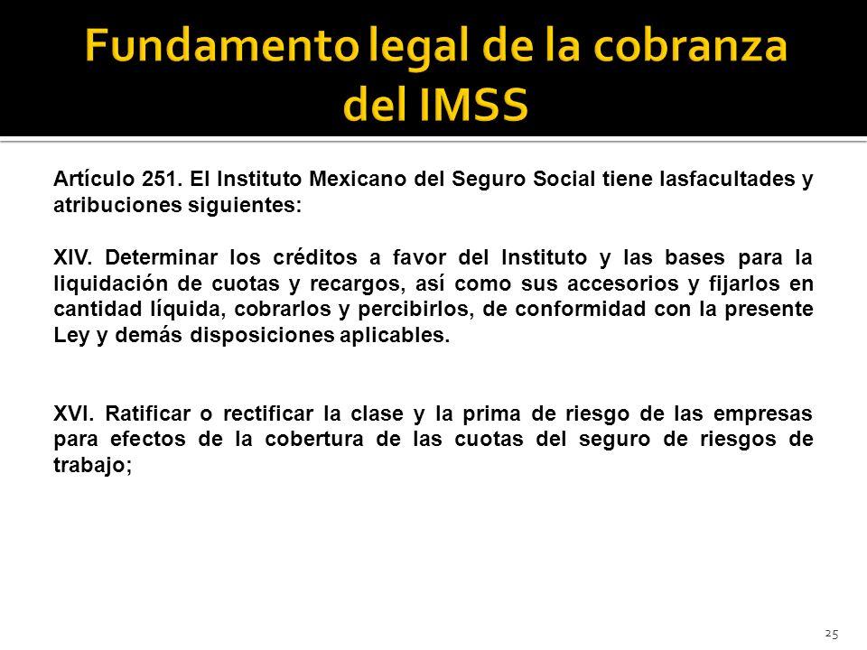 Fundamento legal de la cobranza del IMSS