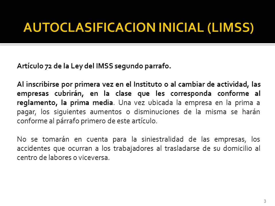 AUTOCLASIFICACION INICIAL (LIMSS)