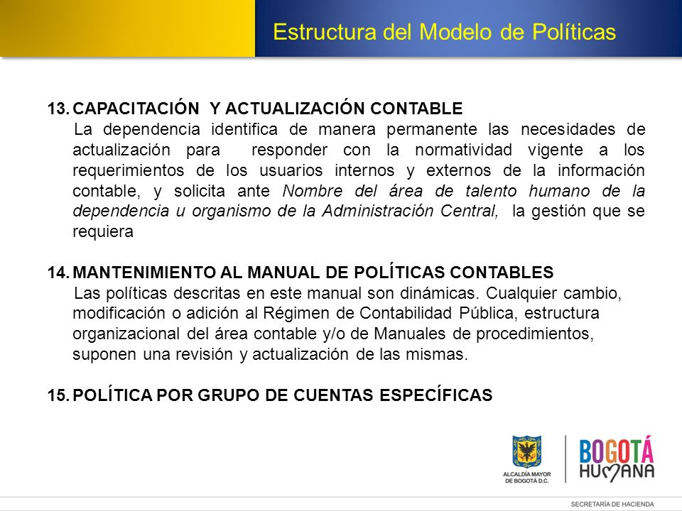 Estructura del Modelo de Políticas