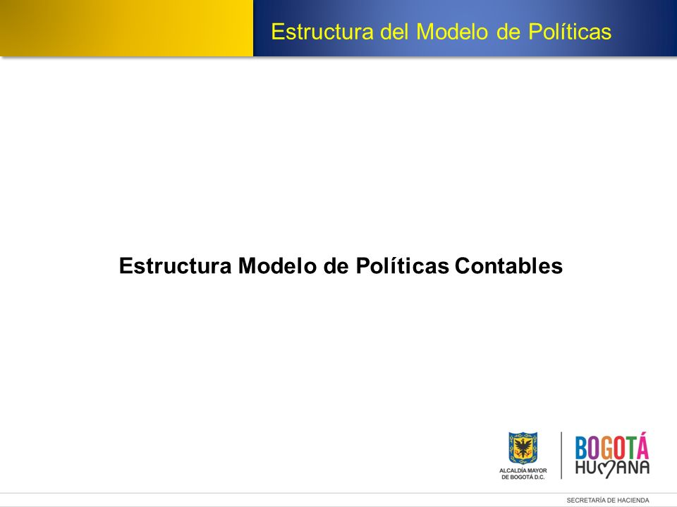 Estructura Modelo de Políticas Contables