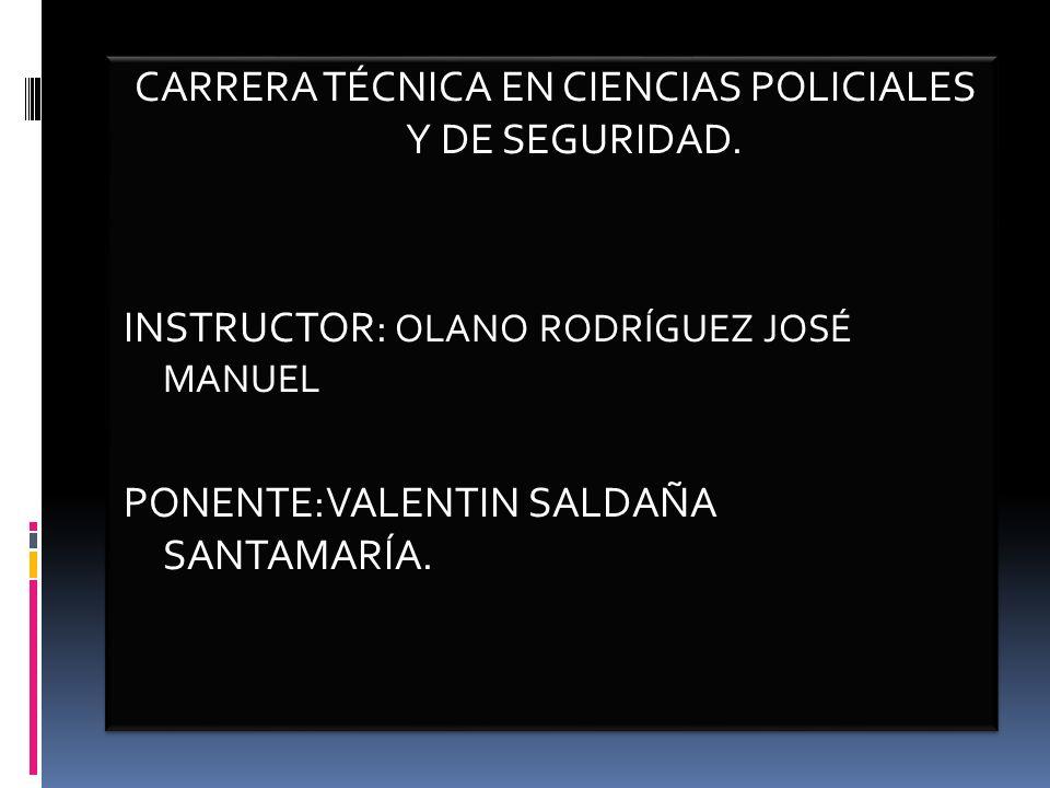 CARRERA TÉCNICA EN CIENCIAS POLICIALES Y DE SEGURIDAD