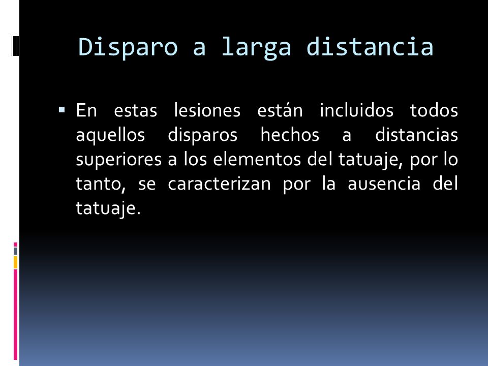 Disparo a larga distancia
