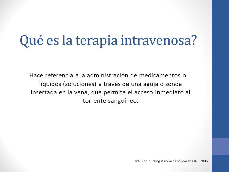 Qué es la terapia intravenosa