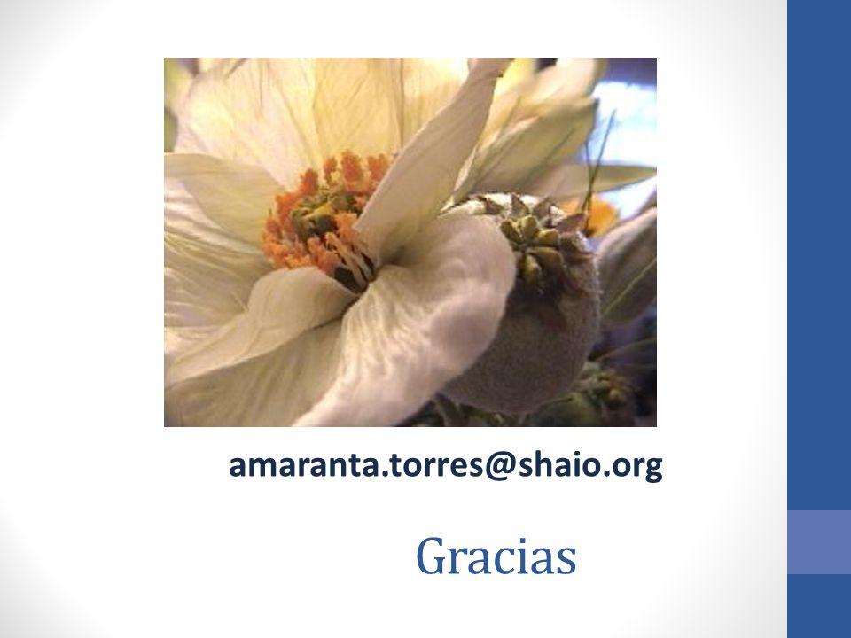 amaranta.torres@shaio.org Gracias
