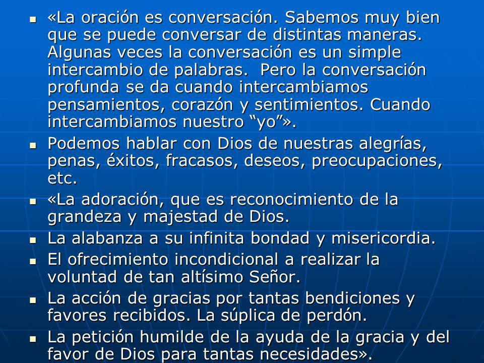 «La oración es conversación