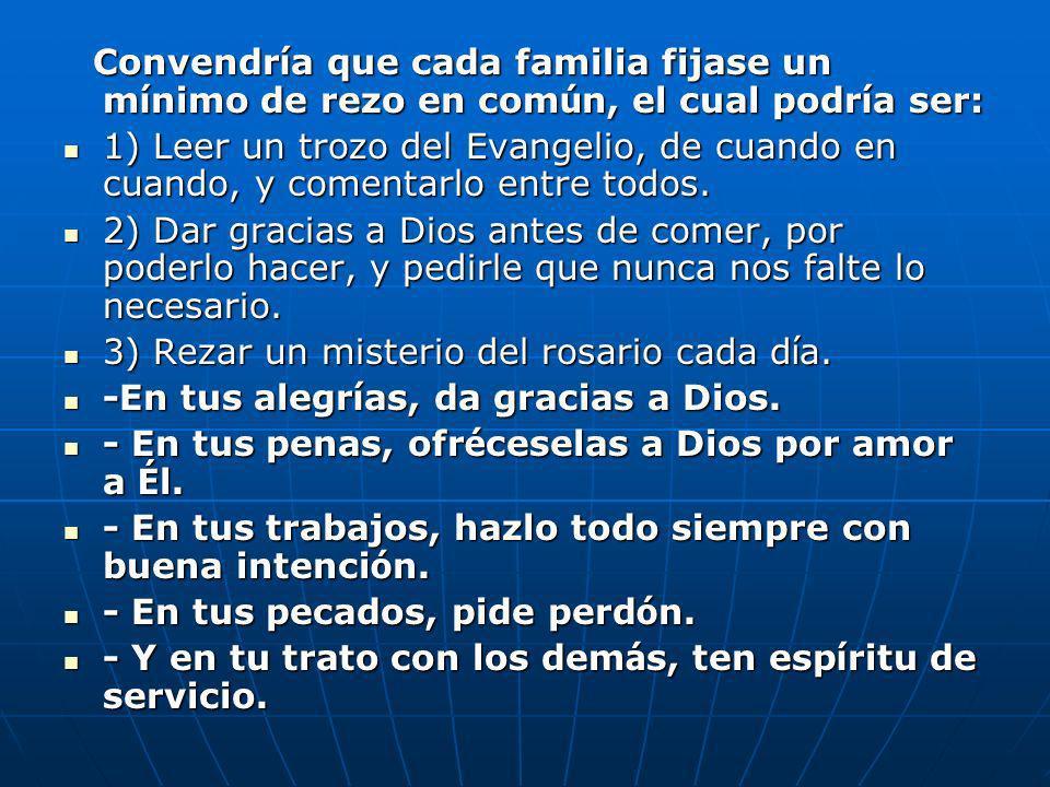 3) Rezar un misterio del rosario cada día.