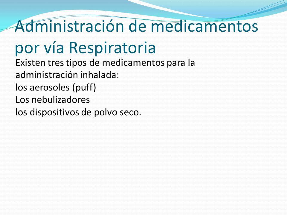 Administración de medicamentos por vía Respiratoria