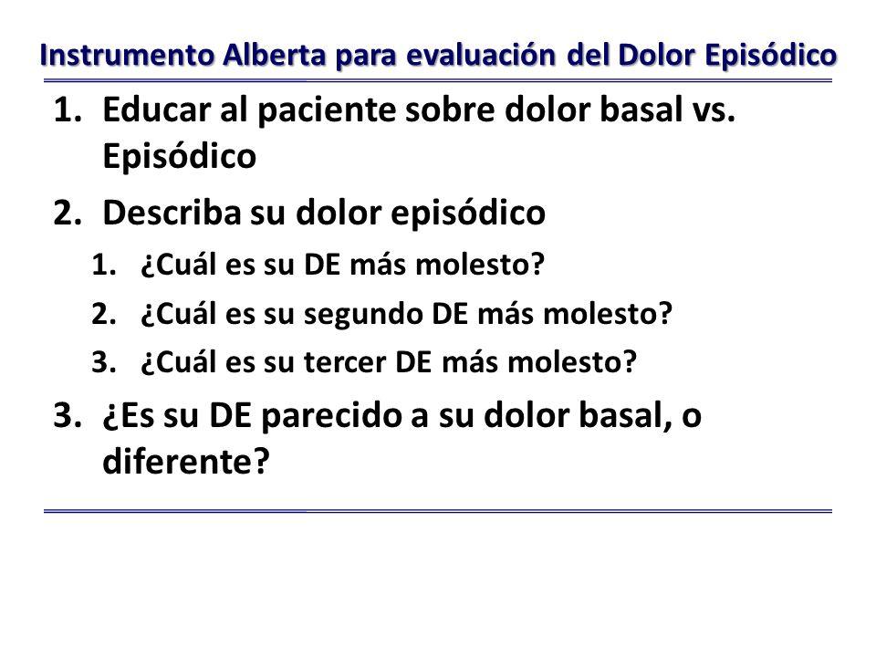 Instrumento Alberta para evaluación del Dolor Episódico