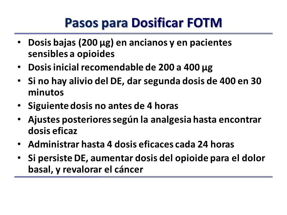 Pasos para Dosificar FOTM