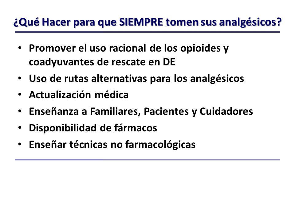 ¿Qué Hacer para que SIEMPRE tomen sus analgésicos