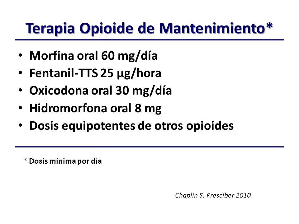 Terapia Opioide de Mantenimiento*