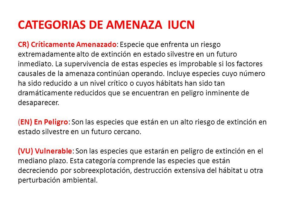 CATEGORIAS DE AMENAZA IUCN