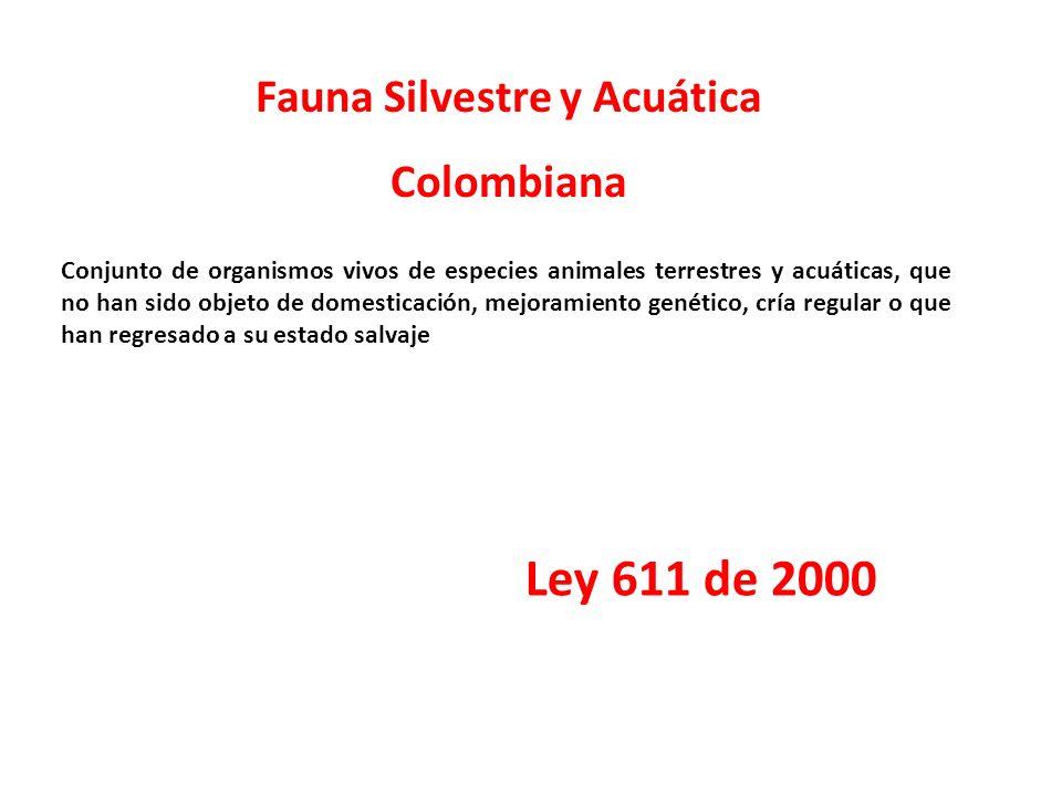 Fauna Silvestre y Acuática