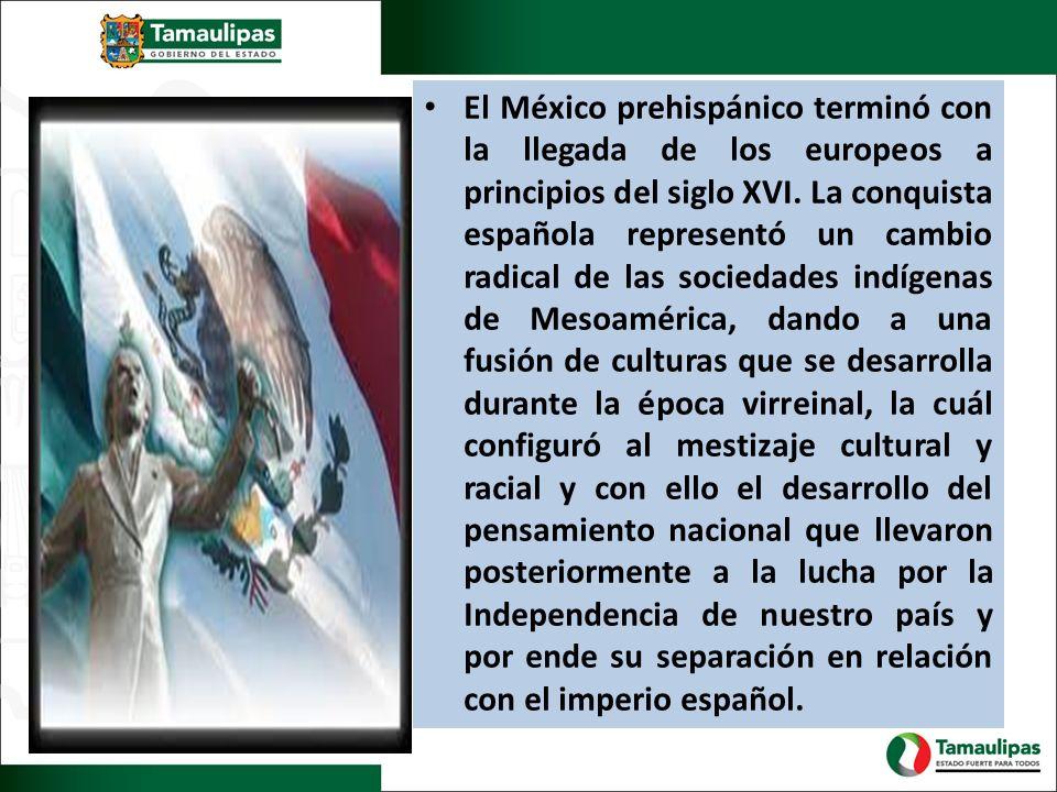 El México prehispánico terminó con la llegada de los europeos a principios del siglo XVI.