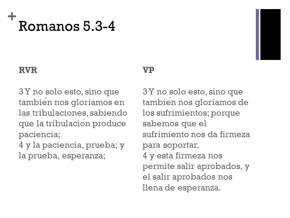 Romanos 5.3-4