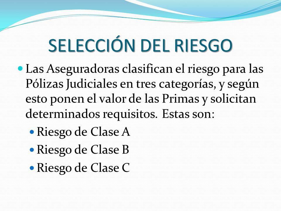 SELECCIÓN DEL RIESGO