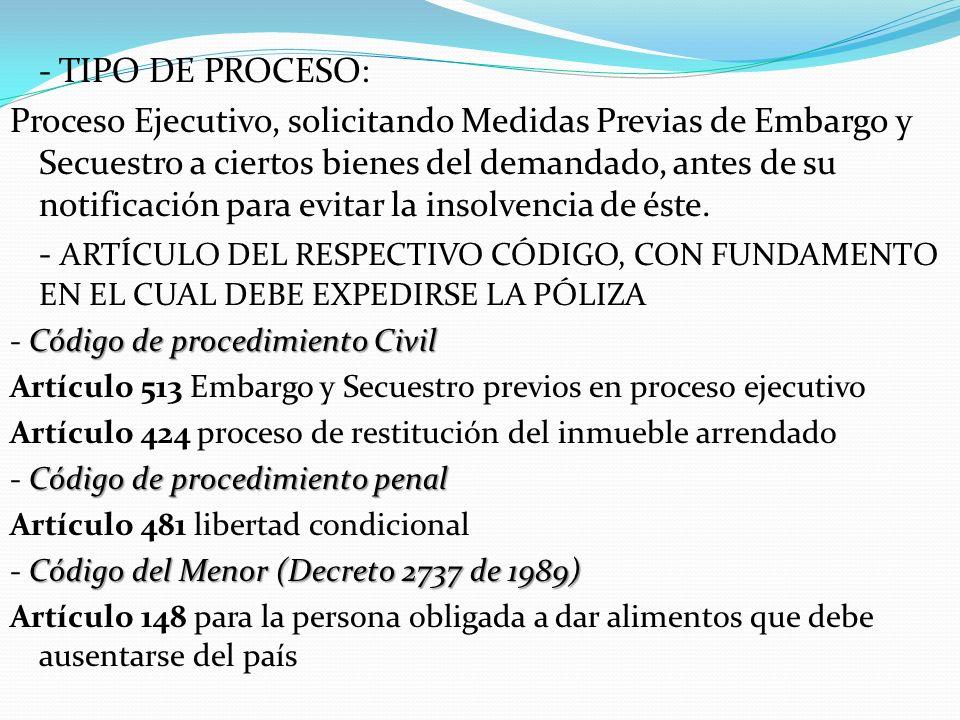 - TIPO DE PROCESO: