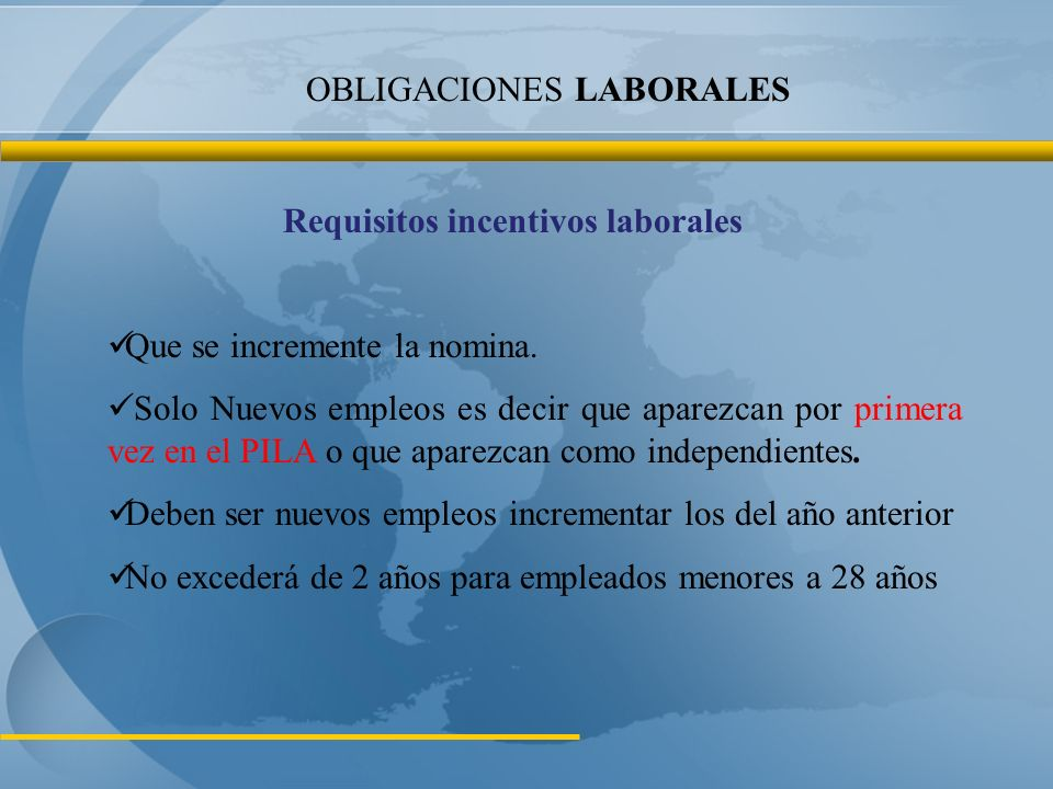 OBLIGACIONES LABORALES