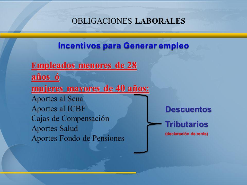 Incentivos para Generar empleo