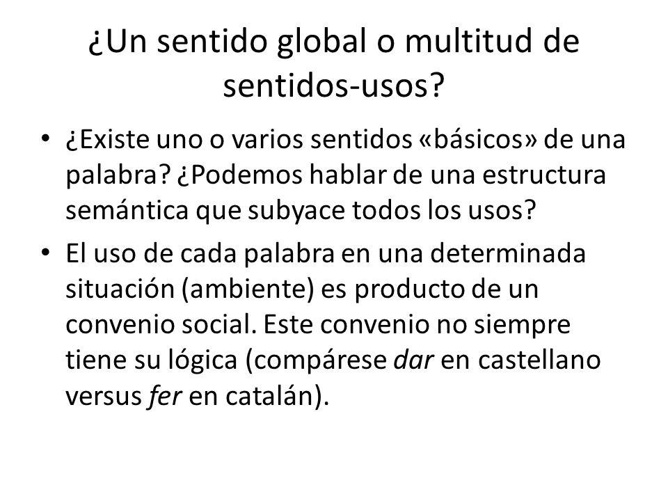 ¿Un sentido global o multitud de sentidos-usos