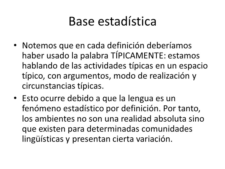 Base estadística