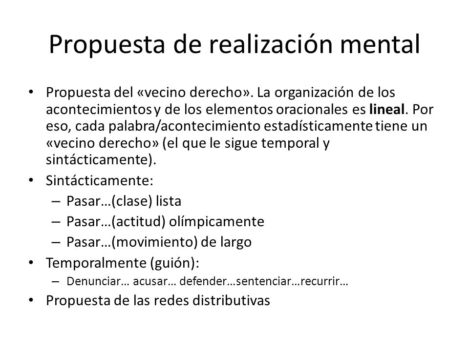 Propuesta de realización mental
