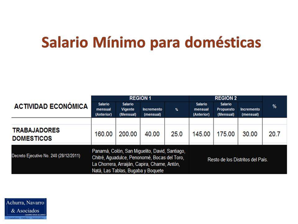 Salario Mínimo para domésticas