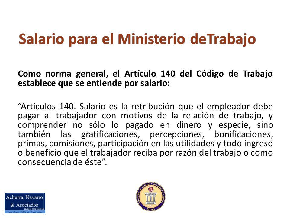 Salario para el Ministerio deTrabajo