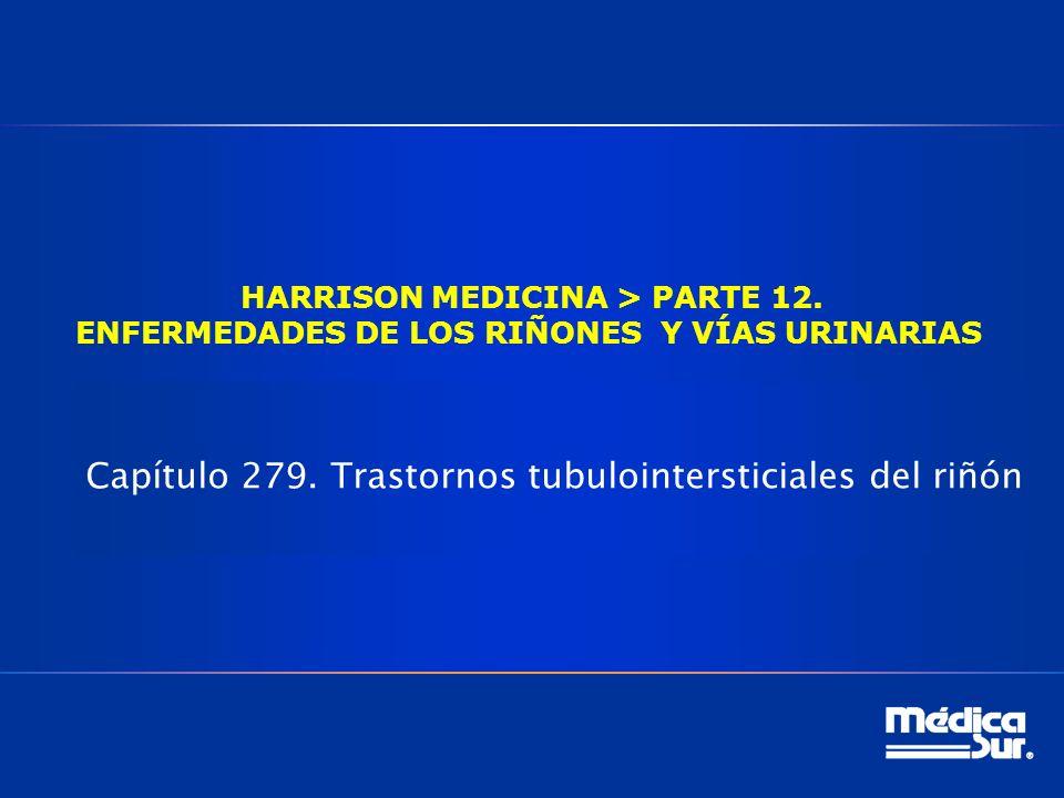 Capítulo 279. Trastornos tubulointersticiales del riñón