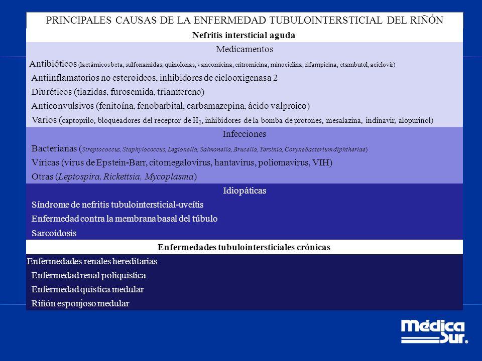 PRINCIPALES CAUSAS DE LA ENFERMEDAD TUBULOINTERSTICIAL DEL RIÑÓN