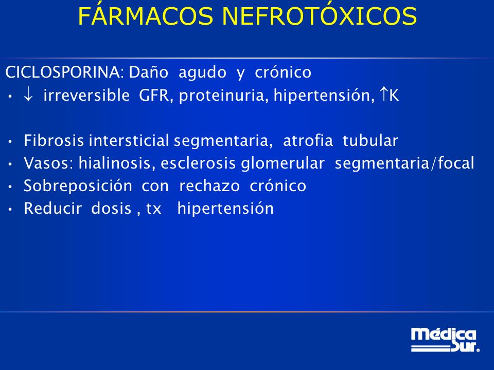 FÁRMACOS NEFROTÓXICOS