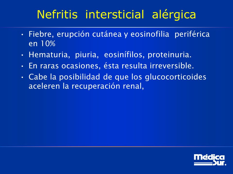 Nefritis intersticial alérgica