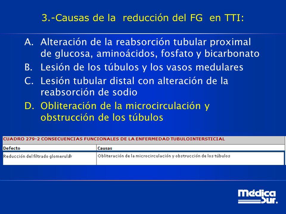 3.-Causas de la reducción del FG en TTI: