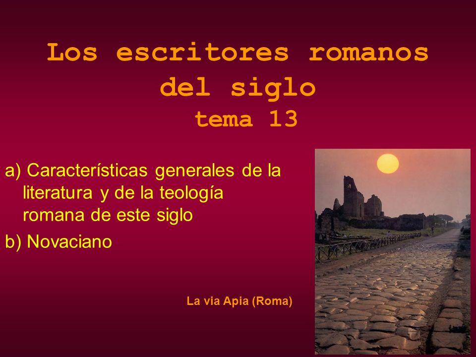 Los escritores romanos del siglo tema 13