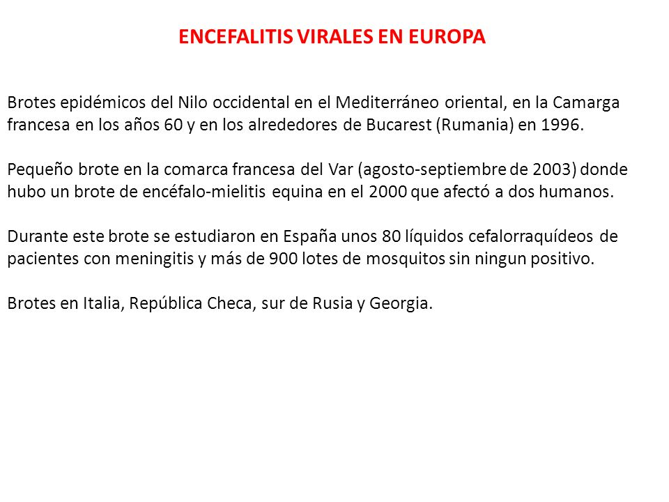 ENCEFALITIS VIRALES EN EUROPA