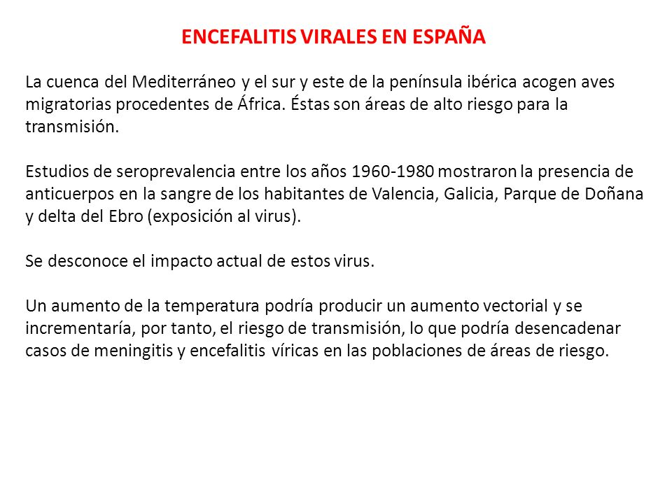 ENCEFALITIS VIRALES EN ESPAÑA