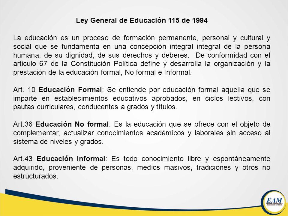 Ley General de Educación 115 de 1994