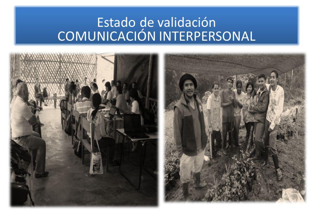Estado de validación COMUNICACIÓN INTERPERSONAL