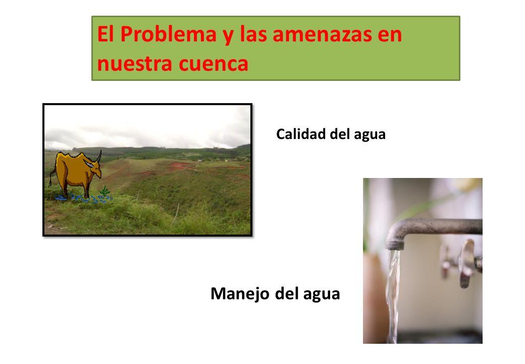 El Problema y las amenazas en nuestra cuenca