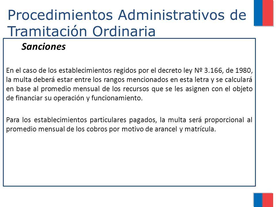 Procedimientos Administrativos de Tramitación Ordinaria