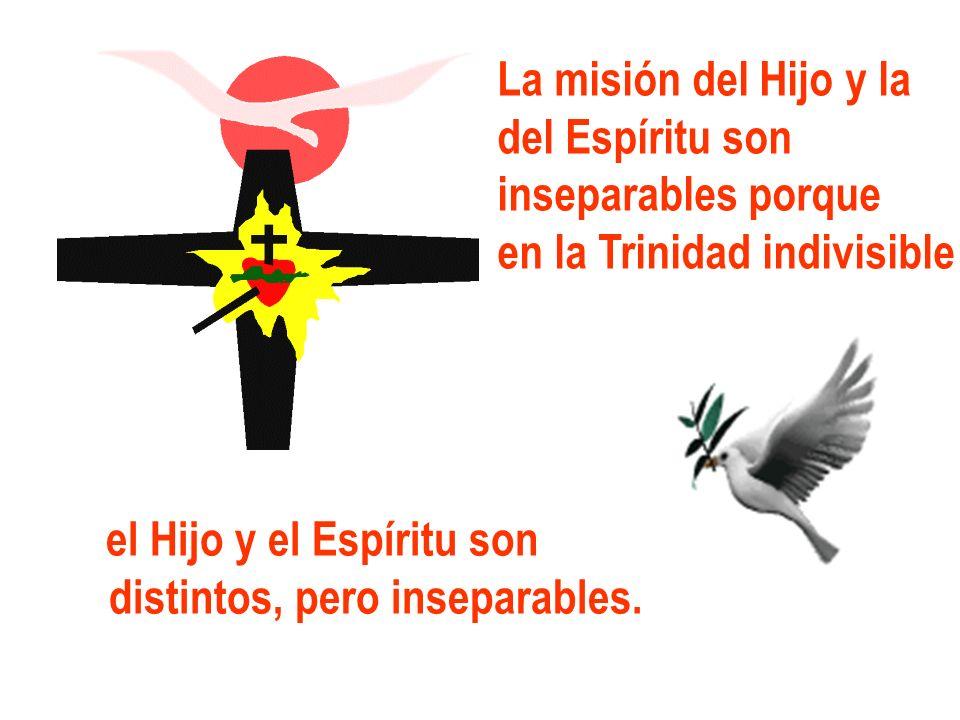 La misión del Hijo y la del Espíritu son. inseparables porque. en la Trinidad indivisible. el Hijo y el Espíritu son.