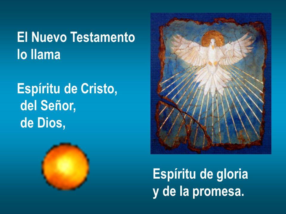El Nuevo Testamento lo llama. Espíritu de Cristo, del Señor, de Dios, Espíritu de gloria.