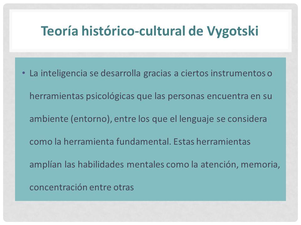 Teoría histórico-cultural de Vygotski